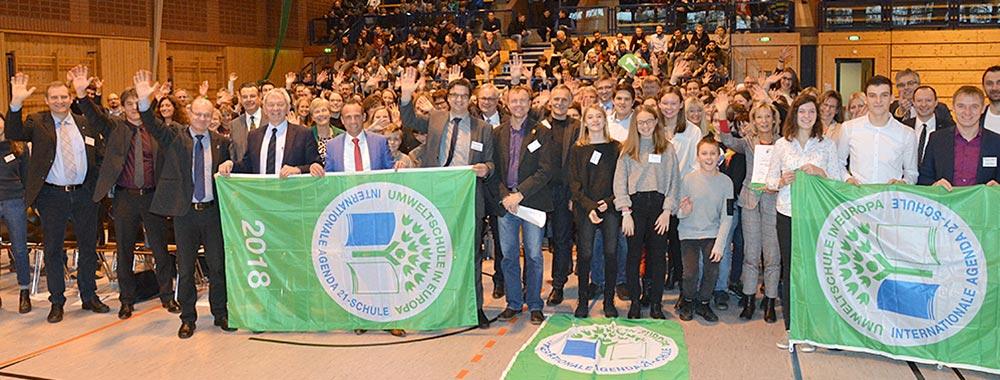 130 Schulen aus Oberfranken, Unterfranken und Teilen Mittelfrankens für Umweltengagement ausgezeichnet
